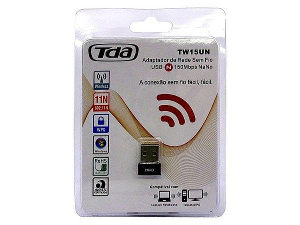 Adaptador Wireless TDA TW15UN USB