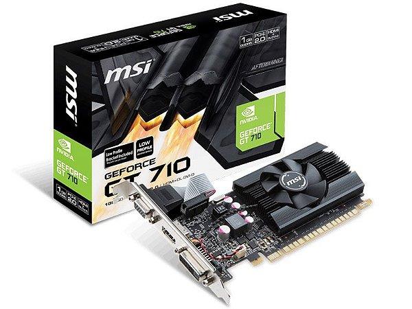 Placa de Vídeo MSI NVIDIA GEFORCE GT 710 1GB GDDR5 32b