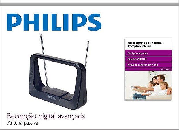 Antena de TV Digital Interna HDTV/UHF/VHF/FM Philips SDV1126X/55