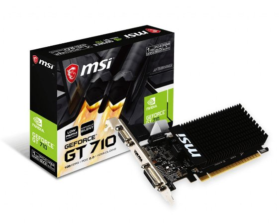 Placa de Vídeo MSI GT 710 1GB DDR3 64b