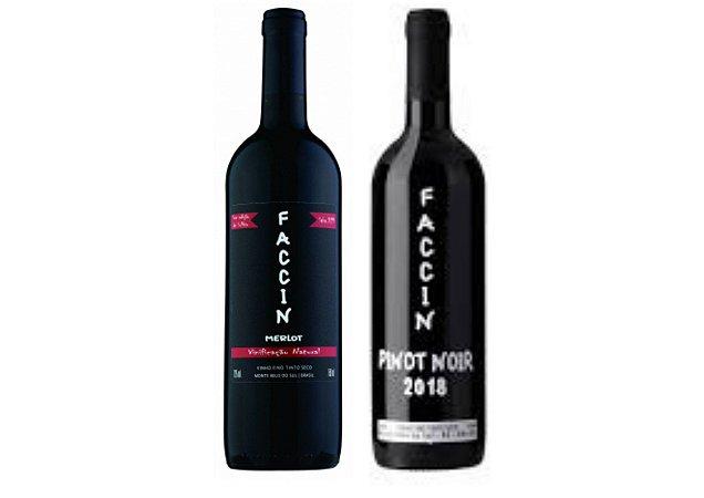 Dupla Vinhos Faccin Merlot + Pinot Noir - 750ml