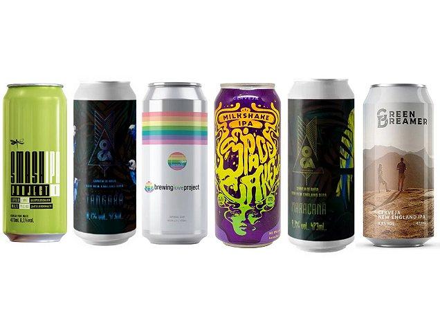 Combo Ipas - Mix Cervejarias - 6 unidades