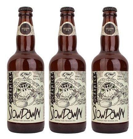 Cerveja Oceânica Slow Down 500 ml - 3unidades