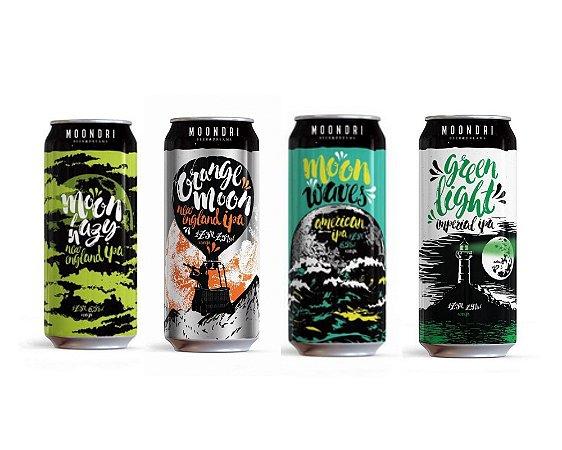 Kit Promocional Cervejas Moondri | 4 unidades - 473ml
