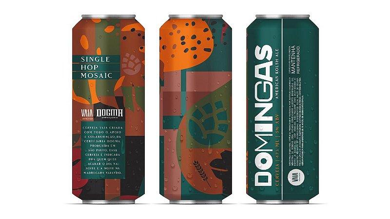 PRÉ VENDA - Kit Promocional Cerveja VAIA & DOGMA Domingas 473ml | 4 unidades ENTREGA DIA 18/12.
