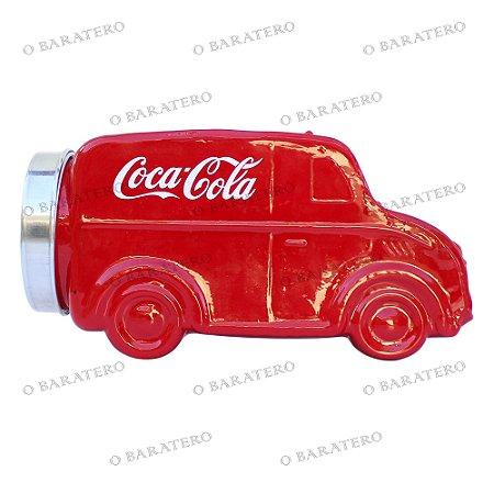 Baleiro Furgão Coca-Cola Vermelho - Bar Mercearia Presente Balas Doces Antigo Festas Pote Compota Reservatório