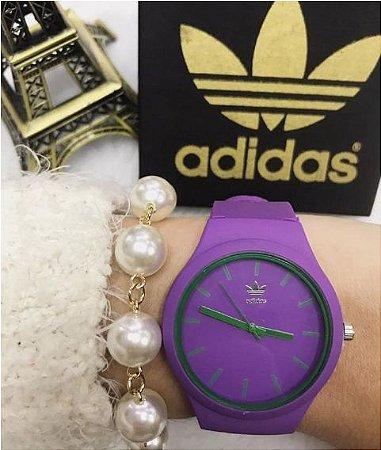 Relogio Feminino Adidas Colors Sport Silicone + Pulseira brinde!!