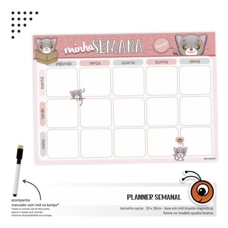 Planner Semanal - Cats
