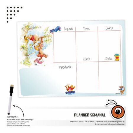 Planner Semanal - Pooh