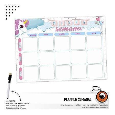 Planner Semanal - Unicornio