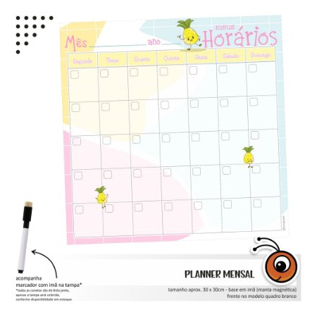 Planner Mensal - Abacaxi