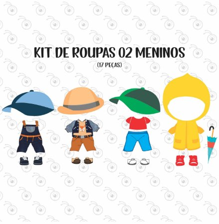 Kit 02 de Acessórios BONECOS - p/ Vestir