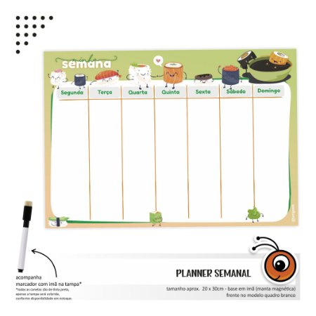 Planner Semanal Sushi