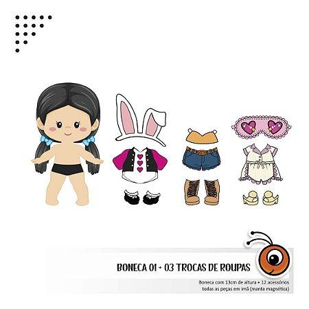 kits Bonecas  + 3 trocas de roupa