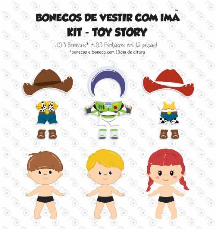 Kit TOY STORY - Bonecos para Vestir