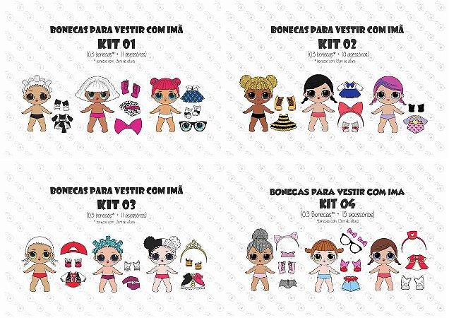 Kit COMBO (11 kits) para Vestir - Bonecas LOL