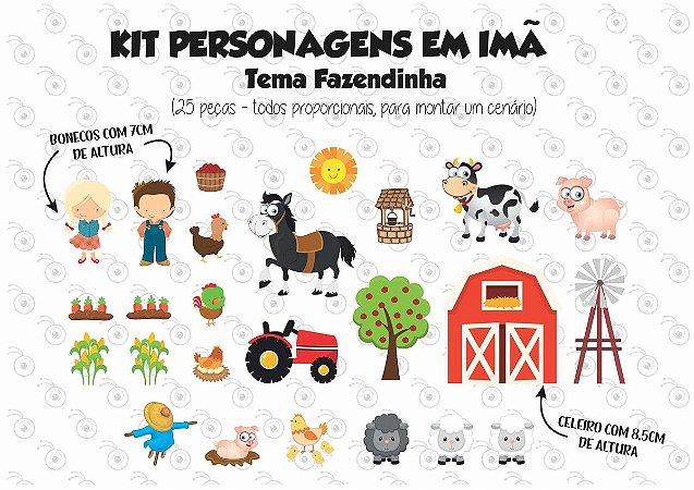 Kit - Fazendinha - Personagens em imã