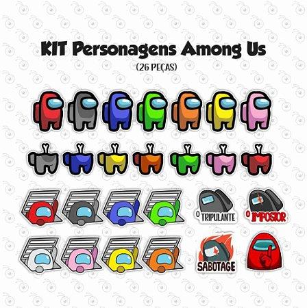 Kit - Among US - Personagens em imã