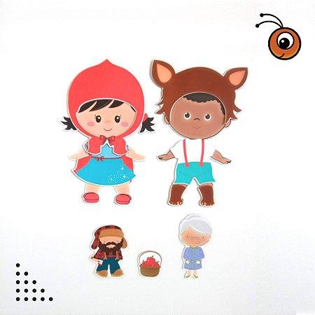 Especial CHAPEUZINHO - Kit Bonecos p/ Vestir