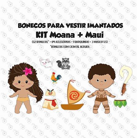Especial MOANA - Kit Bonecas p/ Vestir