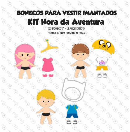 Kit HORA DA AVENTURA - Bonecos p/ Vestir