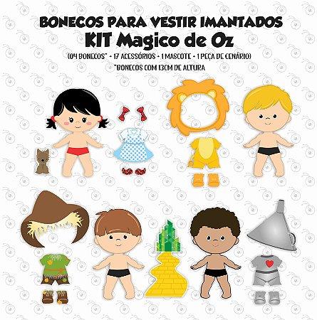Kit Dorothi e Magico de Oz - Bonecos p/ Vestir