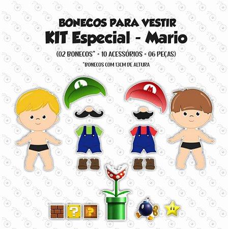 Especial Super Mario - Bonecos p/ Vestir