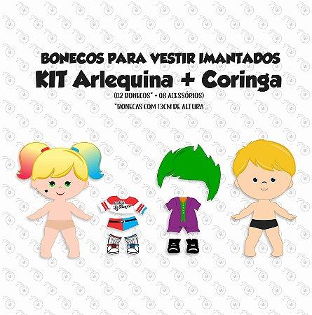 ESPECIAL ARLEQUINA E CORINGA - Kit Bonecos p/ Vestir