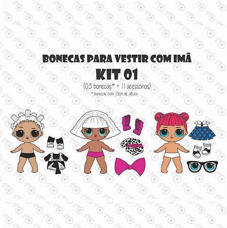 KITs Bonecas LOL - Bonecas p/ Vestir