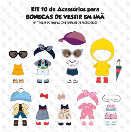 Kit de Acessórios BONECAS - p/ Vestir
