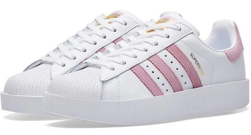 adidas superstar rosa e branco