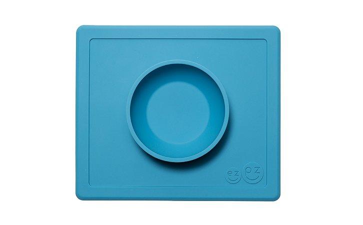 Jogo Americano com Tigela Acoplada Happy Bowl Azul - EZPZ