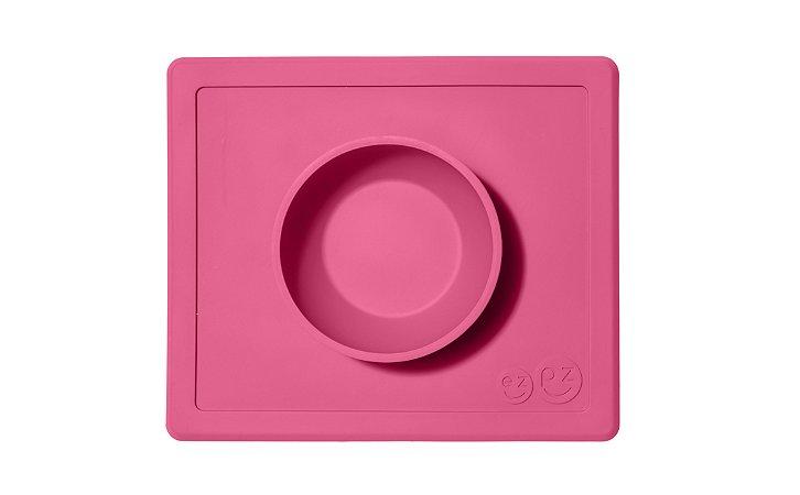 Jogo Americano com Tigela Acoplada Happy Bowl Rosa - EZPZ