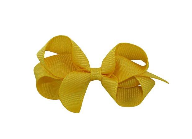 Laço em Gorgurão Royal Style Amarelo 7 cm Gumii