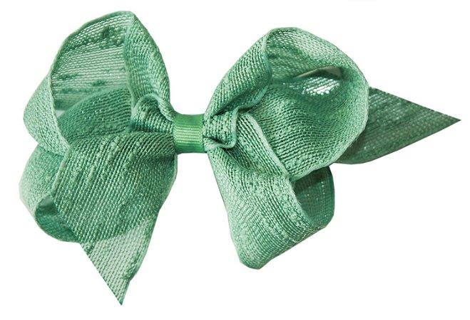 Laço Shabby Linen Verde 12 cm Gumii