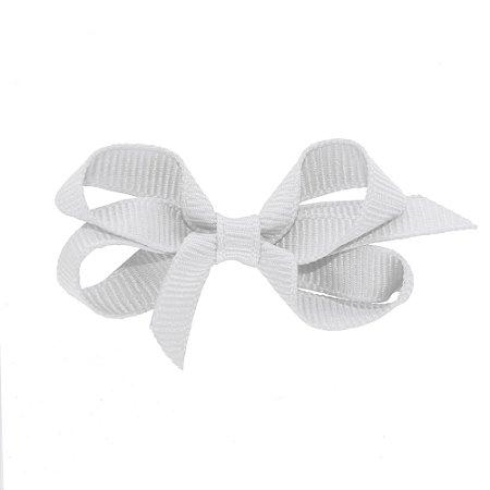 Laço em Gorgurão Royal Style Branco 5 cm Gumii