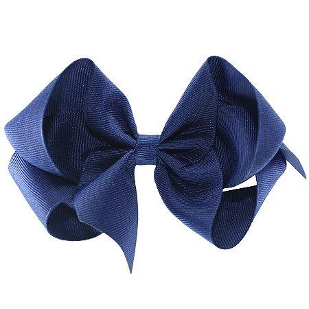 Laço em Gorgurão Royal Style Azul Escuro 12 cm Gumii