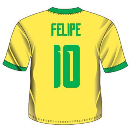 Camiseta Personalizada do Brasil - Copa do Mundo