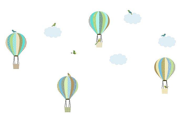 Adesivo de Parede Balões Patch Primeiro Quarto