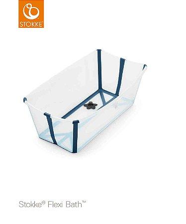 Banheira Flexi Bath Transparente Azul  Stokke