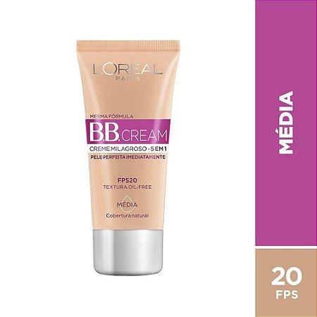 Bb Cream Loreal Fps20 Cor Média 30Ml