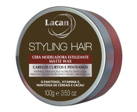 Lacan Styling Hair Cera Modeladora Matte Wax 100g