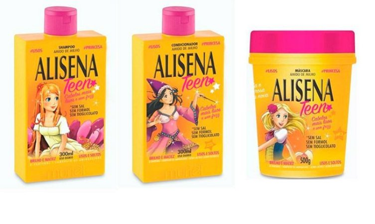 Muriel Alisena Teen Kit Shampoo 300ml + Condicionador 300ml + Máscara 500ml