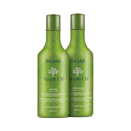Inoar Argan Oil Kit Shampoo 500ml + Condicionador 500ml