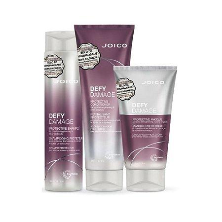 Kit Joico Defy Damage Shampoo 300ml, Condicionador 250Ml e Máscara 150ml