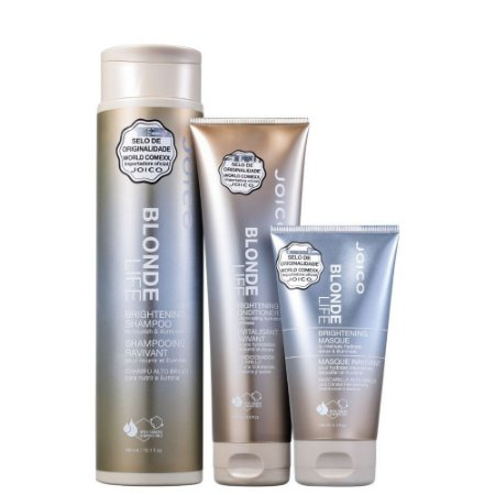 Kit Joico Blonde Life Brightening Shampoo 300ml, Condicionador 250ml e Máscara 150ml