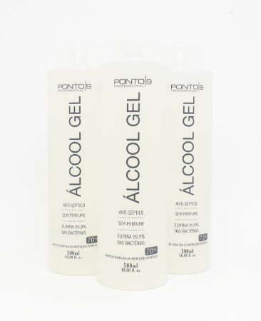 Álcool Gel 70% Ponto9 Kit 3x500ml