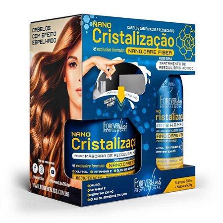 Kit Forever Liss Nano Cristalização Shampoo 300ml + Máscara 500g