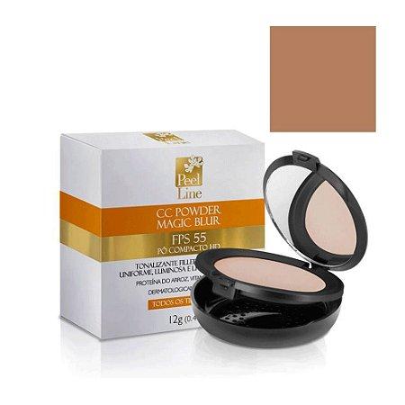 Cc Cream Powder Magic Blur Fps55 Bege Médio Peel Line 12Gr