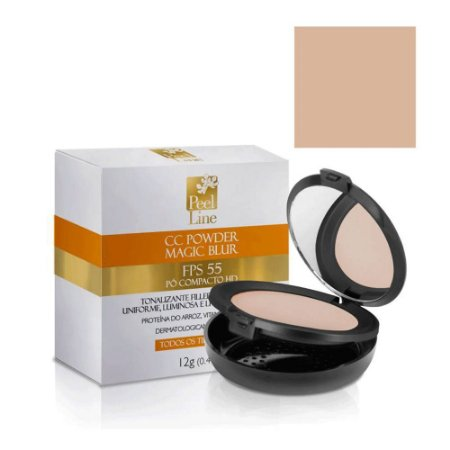 Cc Cream Powder Magic Blur Fps55 Bege Claro Peel Line 12Gr